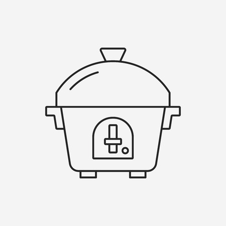 rice cooker: rice cooker line icon