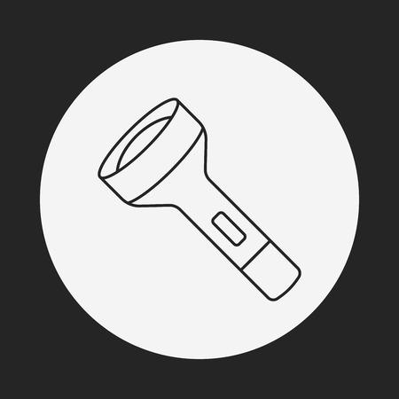 flashlight: flashlight line icon