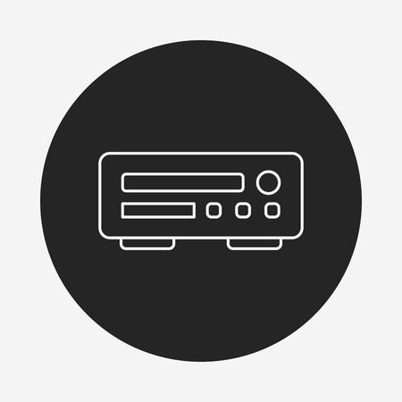 dvd player: DVD player line icon