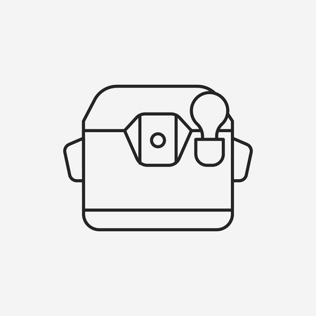 cooker: rice cooker line icon