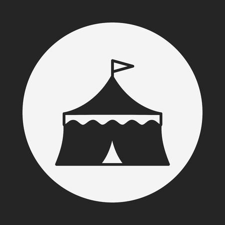 circo: icono de circo Vectores