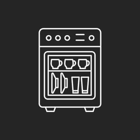 dishwasher: dishwasher line icon