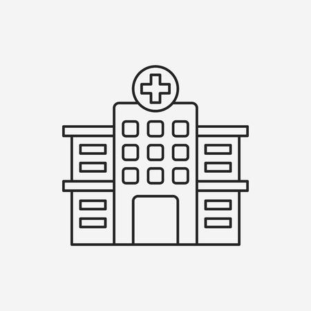 hospital line icon Illusztráció