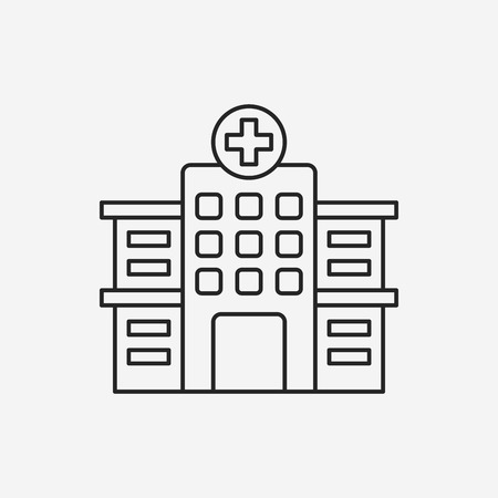 hospital line icon Illustration