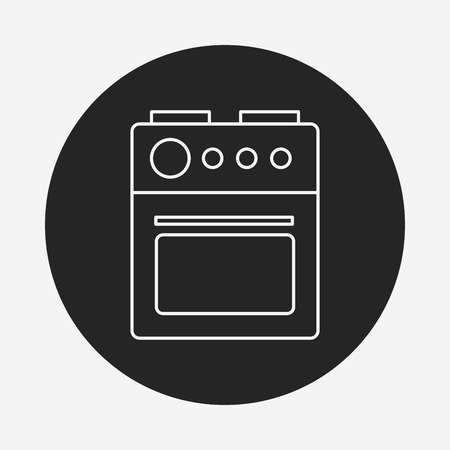 microwave ovens: oven line icon