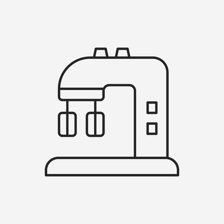 batidora: utensilios de cocina icono de l�nea batidor