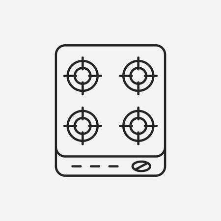 stove: gas stove line icon