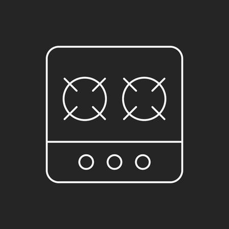 gas stove: gas stove line icon