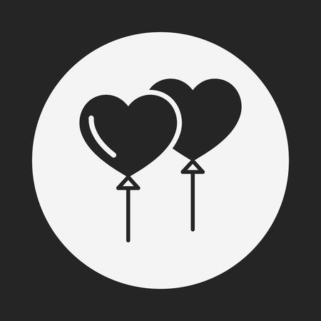 heart balloon: heart balloon icon