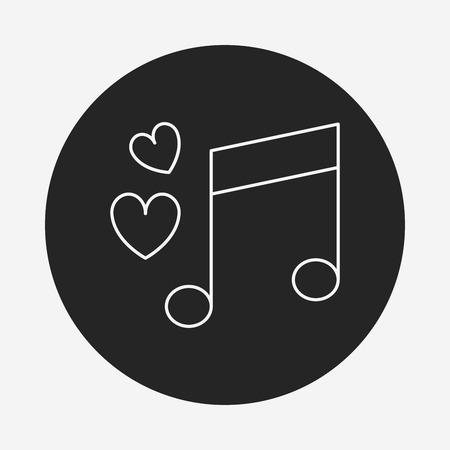 love music: love music line icon