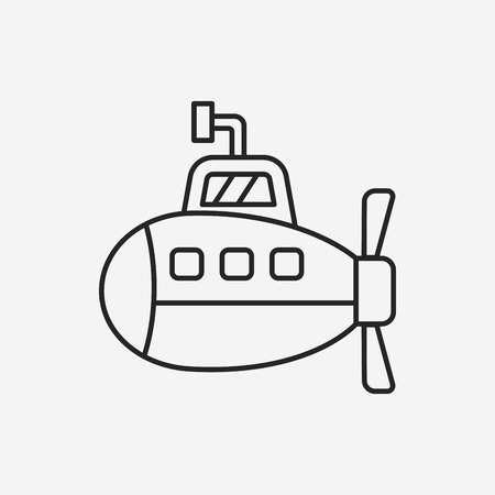 periscope: submarine line icon
