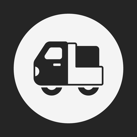 car carrier: truck icon Illustration