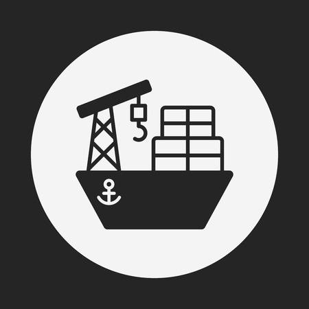 container port: ship icon Illustration