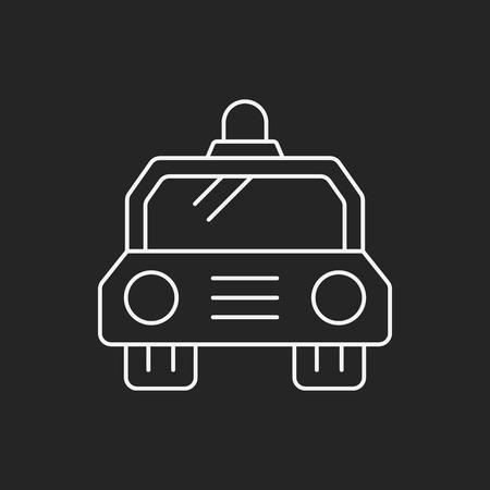 politieauto: politiewagen lijn pictogram