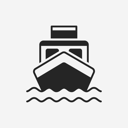 船船アイコン  イラスト・ベクター素材