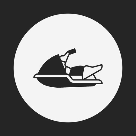 marine industry: water motor icon