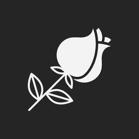 flower bouquet: flower bouquet icon Stock Illustratie