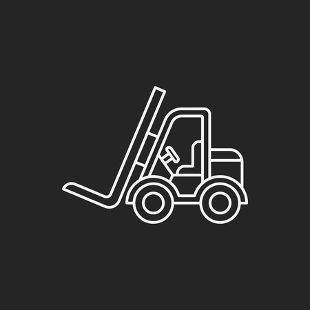 car carrier: truck line icon Illustration