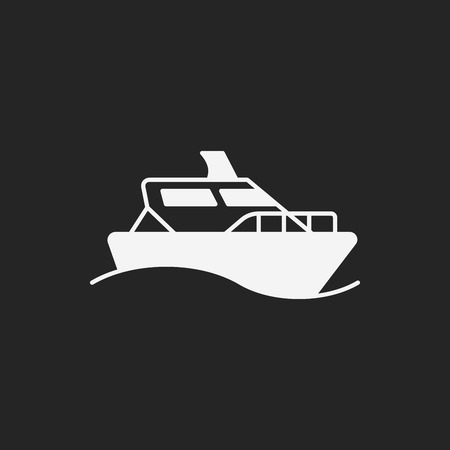 cruising: ship icon Illustration