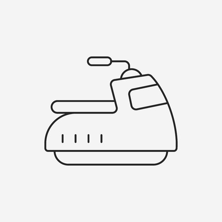 cruising: water motor line icon