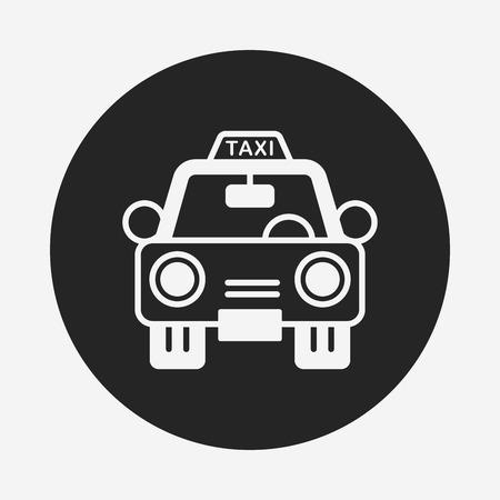 public services: taxi icon Illustration