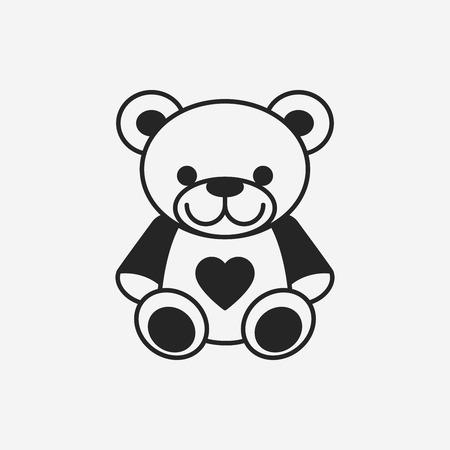 bear doll: bear doll icon Illustration