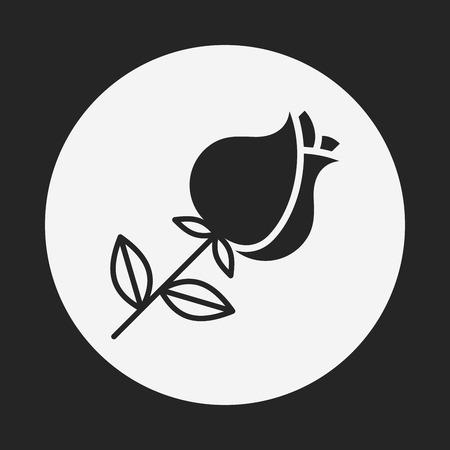 mazzo di fiori: bouquet di fiori icona