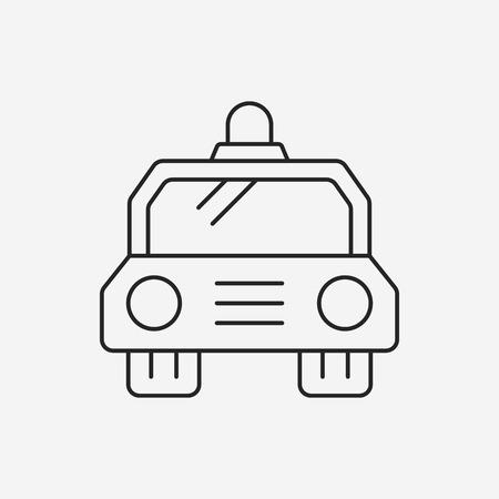 politieauto: police car line icon