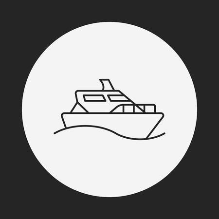shipment: ship boat line icon Illustration