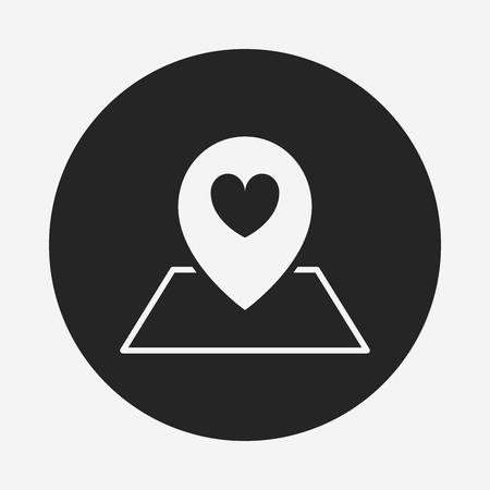 location icon: love location icon Illustration