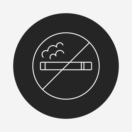 abstain: no smoking line icon