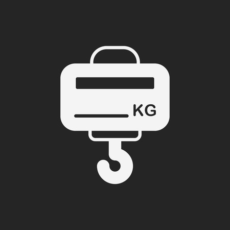 weight machine: weight machine icon Illustration