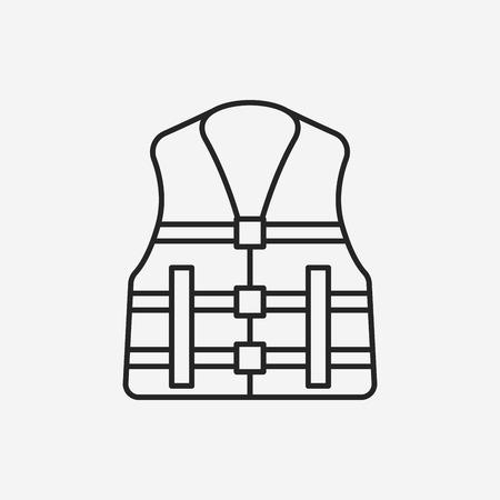 life jacket: Life jacket line icon Illustration