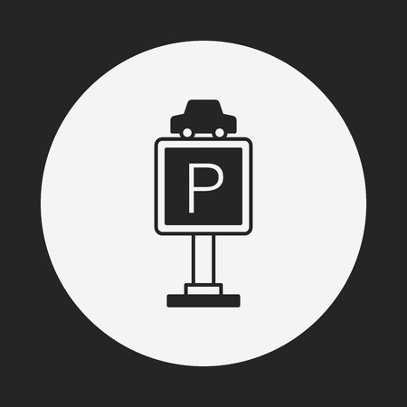 parking sign: parking sign icon