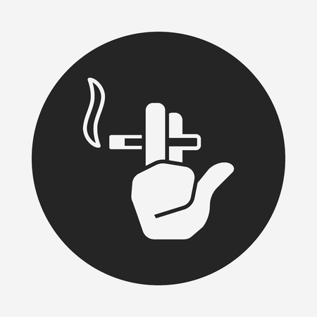 black smoke: smoking area icon Illustration
