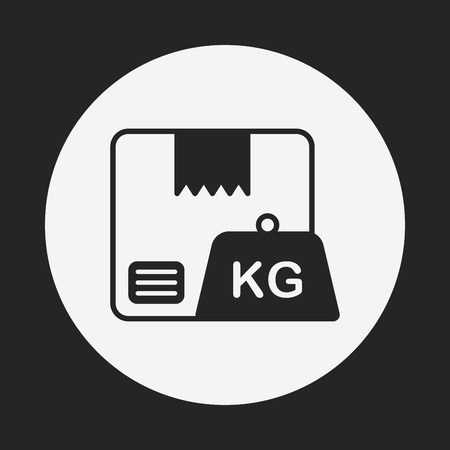 freight: logistics freight weight icon