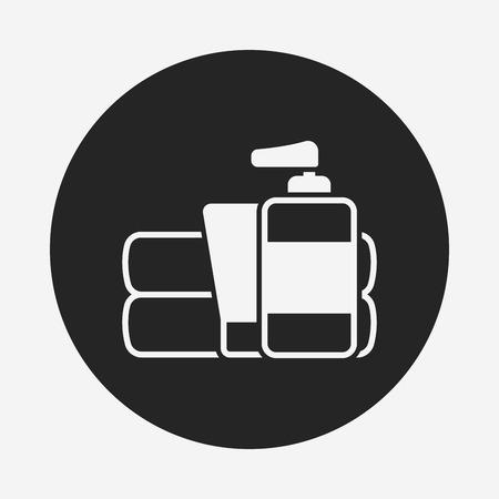 articulos de baño: Artículos de higiene icono Vectores