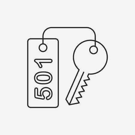 hotel key: hotel key line icon