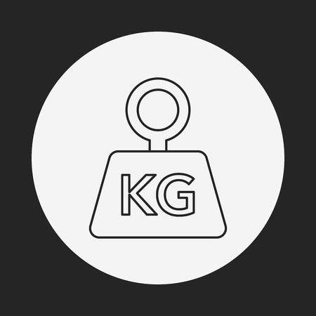 counterbalance: weight machine line icon