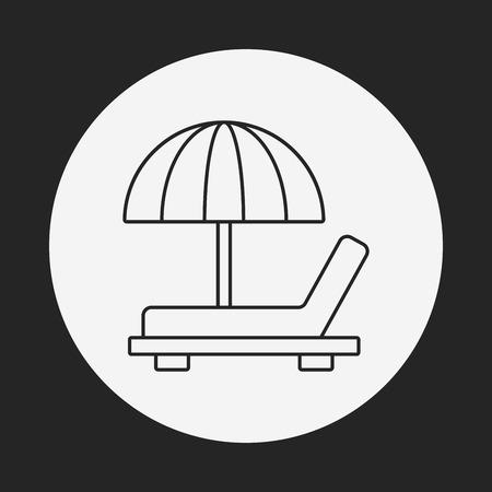 resort: resort line icon Illustration