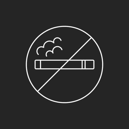 abstain: no smoking line icon