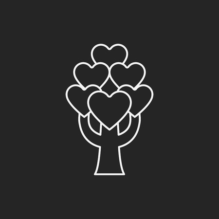 tree line: love tree line icon