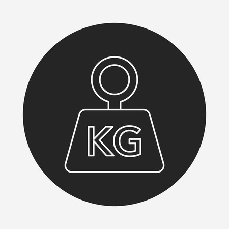 counterweight: weight machine line icon