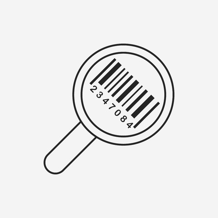 buy sell: Barcode Label icon Illustration
