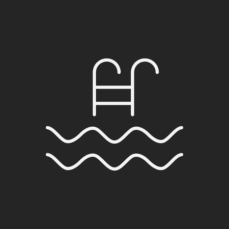 swimming pool sign icon