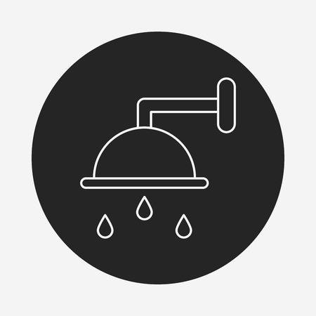showering: Showerheads line icon Illustration