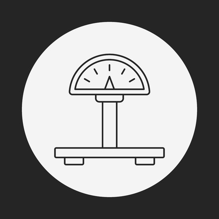 weight machine: weight machine line icon