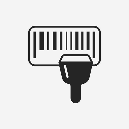 Barcode Label icon Vectores
