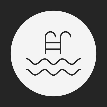 no swimming: swimming pool sign icon