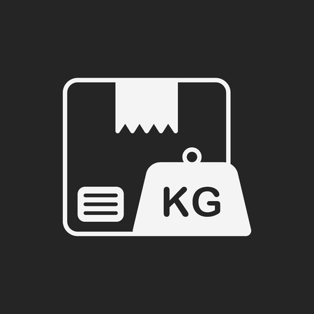 box weight: logistics freight weight icon